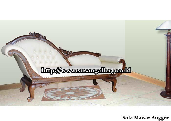 Sofa Bungkus Mawar Anggur