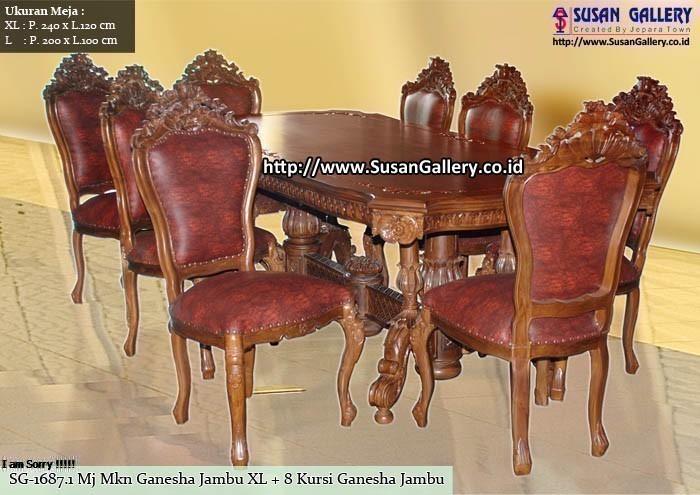 Meja Makan Jati Ganesha Jambu